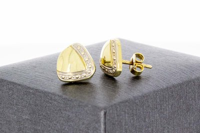 14 Karaat bicolor gouden gefigureerde Oorstekers