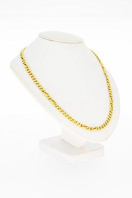 14 Karaat gouden Gourmet/ Valkoog schakelketting-58,5 cm