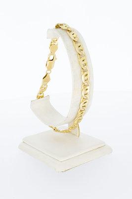 14 Karaat geel gouden Valkoog schakelarmband - 23,5 cm