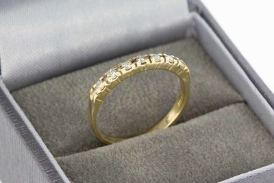 14 Karaat geel gouden Rijring gezet met Diamant - 0,07 crt
