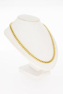14 Karaat geel gouden open Gourmet Slot Collier - 44,8