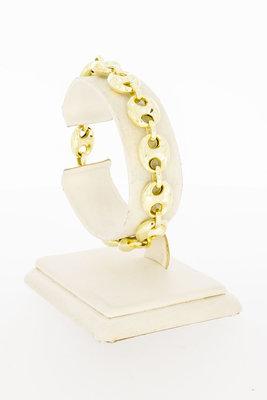 14 Karaat geel gouden Anker schakelarmband - 19,0 cm
