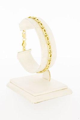 14 Karaat geel gouden Valkoog schakelarmband - 19,2 cm