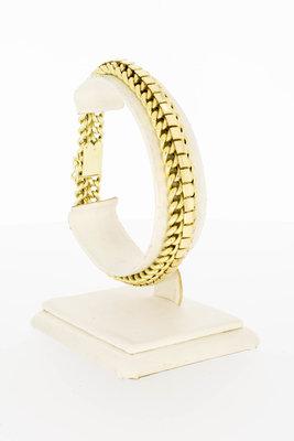 14 Karaat geel gouden gevlochten Rug armband - 20,5 cm