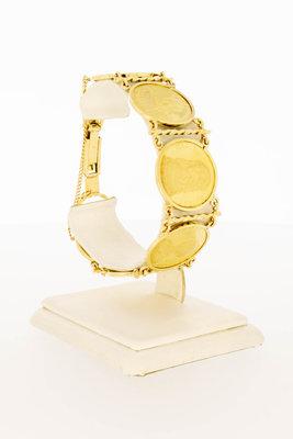 """Gouden """"Adellijke vrouwen"""" penning armband - 18 cm"""