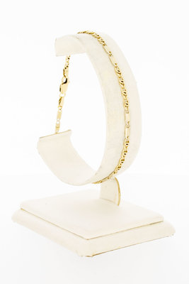14 Karaat Valkoog schakel armband - 20,5 cm