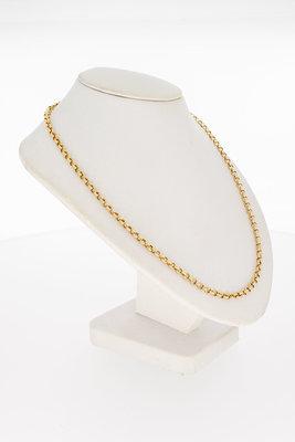 14 Karaat geelgouden Jasseron schakel Collier - 44,5 cm