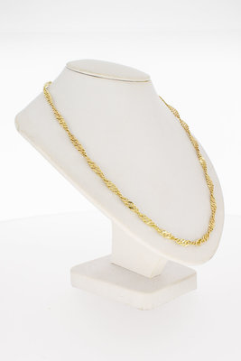 14 Karaat gouden getwiste Gourmet Collier - 46,5 cm