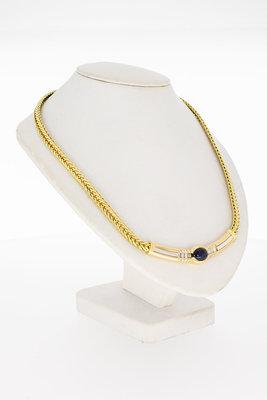 18 Karaat Le Chic Collier met Saffier en Diamant - 45 cm