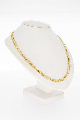 14 Karaat bicolor gouden platte Koningsketting - 60,5 cm VERKOCHT