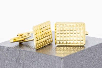 18 Karaat geel gouden bewerkte Manchetknopen