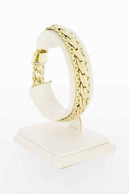 14 Karaat gevlochten en gefigureerde armband - 19,6 cm
