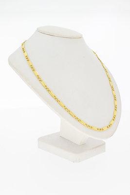 18 Karaat geel gouden Plaatjes schakel Collier - 48 cm