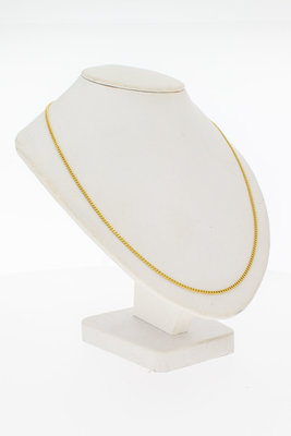 18 Karaat geel gouden Gourmet schakelketting - 53,5 cm
