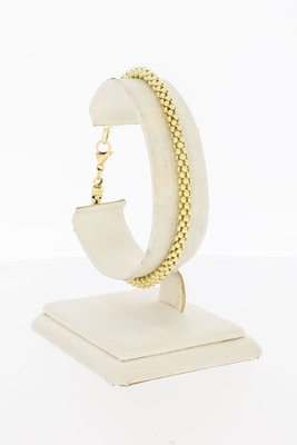 14 Karaat geel gouden Popcorn schakelarmband - 20 cm VERKOCHT