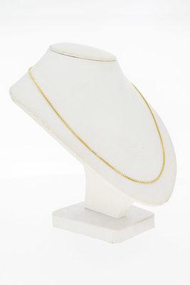 14 Karaat geel gouden Venetiaans schakel Collier - 45,7 cm