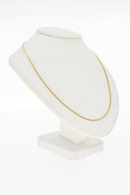 14 Karaat geel gouden Venetiaanse schakel Collier - 45 cm