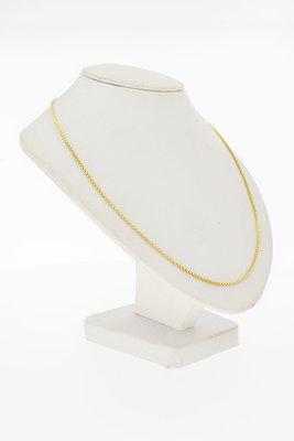 14 Karaat geel gouden Venetiaanse schakel Collier - 49,5 cm