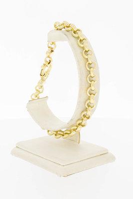 14 Karaat geel gouden Jasseron schakelarmband - 23 cm