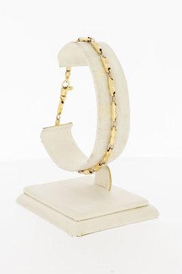 14 Karaat bicolor gouden Fantasie armband - 20,3 cm
