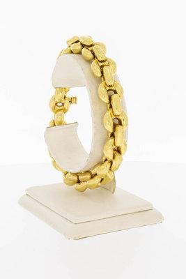 18 Karaat geel gouden Anker schakelarmband- 21,7 cm