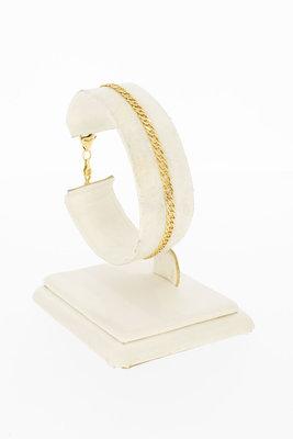 14 Karaat geel gouden Fantasie schakelarmband - 18 cm