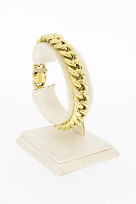 14 Karaat geel gouden Gourmet schakelarmband - 19,0 cm