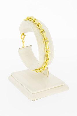 18 Karaat geel gouden Anker schakelarmband - 19,5 cm