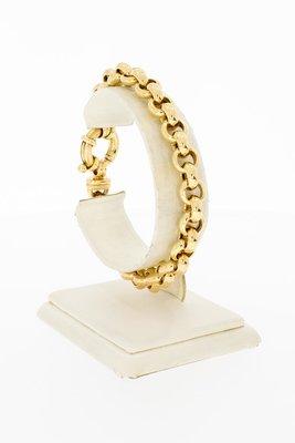 14 Karaat geel gouden Jasseron schakelarmband - 21 cm
