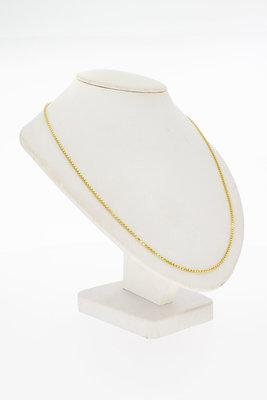 14 Karaat geelgouden Venetiaanse schakel Collier - 43 cm