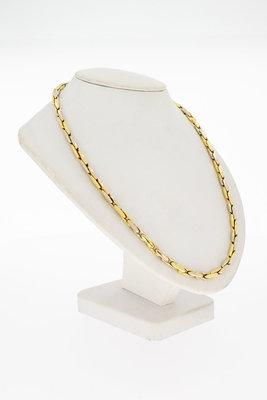 14 Karaat bicolor gouden Staafjes Collier - 46,0 cm