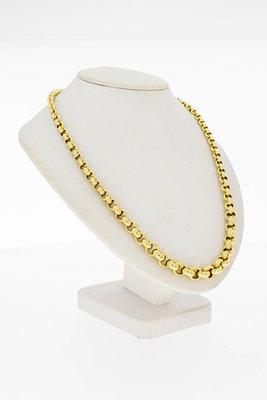 14 Karaat geel gouden Jasseron schakel Collier - 49 cm