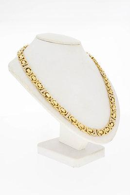 14 Karaat gouden Platte Koning schakelketting - 64,3 cm