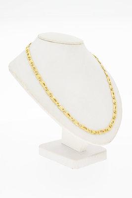 14 Karaat geel gouden Valkoog schakel Collier - 49 cm