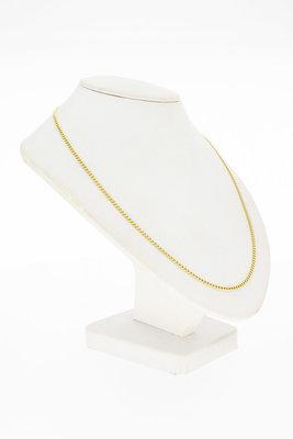 14 Karaat geel gouden Gourmet schakelketting - 62 cm
