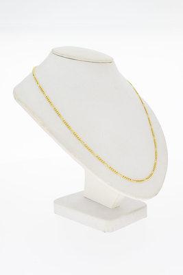 14 Karaat geelgouden Gourmet schakel Collier - 42 cm