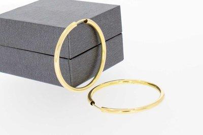 14 Karaat geel gouden Creolen (diameter 36,4 mm)