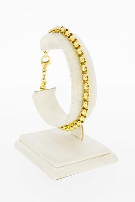 14 Karaat geel gouden Jasseron schakel armband - 20 cm