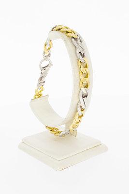 18 Karaat bicolor gouden Gourmet Infinity armband- 23,7 cm