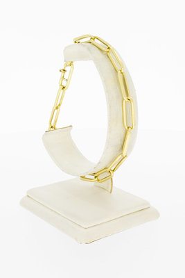 14 Karaat geel gouden Closed Forever armband - 21,8 cm