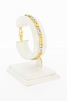 18 Karaat bicolor gouden Rolex schakelarmband - 18,6 cm