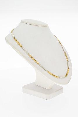 14 Karaat gouden Valkoog / Plaatjes ketting - 62,2 cm