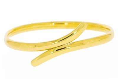 14 Karaat massief geel gouden Slavenarmband