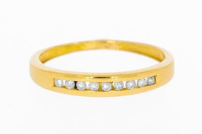 18 Karaat geelgouden Rijring met Diamant