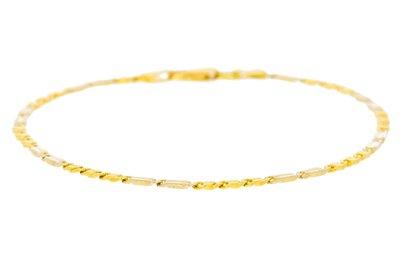 14 Karaat Bicolor gouden schakel armband - 20 cm