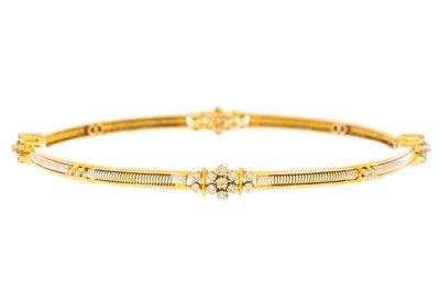 Gouden Slavenarmband met Diamant