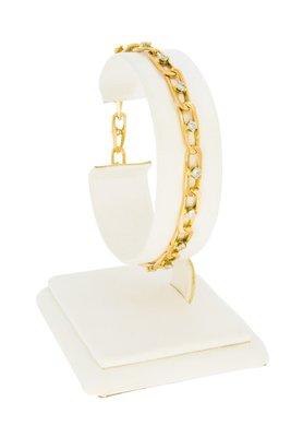 18 karaat gouden armband met (0.85 crt) Diamant-19 cm