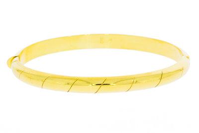 14 karaat geelgouden slaven armband