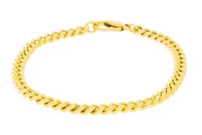 14K Massief Gouden Gourmet Schakel Armband -21,5 cm