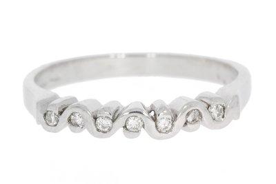 18 Karaat witgouden Ring gezet met briljant geslepen Diamant